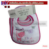Baby Bibs Pacote de 7days of The Week Waterproof Baby Accessories (P1013)