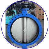 API/ANSI/DIN/JIS 무쇠 또는 연성이 있는 철 두 배 플랜지 나비 벨브