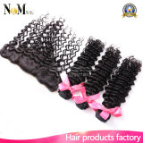 Mink Brazilian Deep Wave Virgin Hair avec Frontal Closure Bundles, 3PCS Hair Bundles avec 1PC Closure, Lace Frontals with Baby Hair