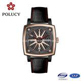 Resistente de acero inoxidable reloj de cuarzo relojes de cuarzo de encargo al agua 3 ATM