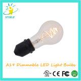 Nueva lámpara de Whosale del bulbo del filamento del diseño LED de A19/A60 3W