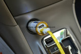 заряжатель автомобиля USB заряжателя автомобиля плакировкой золота 24k двойной