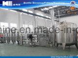 Purificação de água pura e planta de engarrafamento