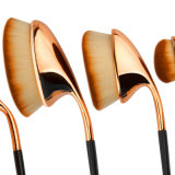 Kits profesionales multiusos del cepillo del polvo de la fundación del color de Rose del cepillo de dientes de la dimensión de una variable del cepillo oval de oro del maquillaje
