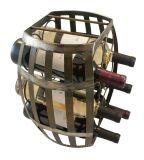 Cremalheira de madeira de bambu feita sob encomenda do armazenamento do vinho do tambor de vinho do indicador do armazenamento