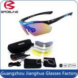 Óculos de sol polarizados dos esportes da poeira do jogo cheio vidros protetores Windproof com cinta e acessórios
