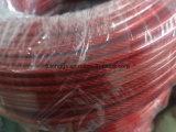 Гальванизированная веревочка стального провода с PVC Tansparant красным
