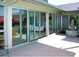 Дешевая алюминиевая горизонтальная дверь сползая стекла с двойным стеклом