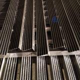 De construction flair commercial d'escalier de carborundum de noir d'alliage d'aluminium de dérapage non