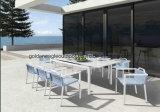 Mobília de jantar ao ar livre plástica do frame da madeira e do alumínio