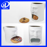 Expression Creative Cute Cartoon Céramique Cup of Milk Coffee Cup Mug avec couvercle