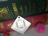 Medalla plateada plata de sellado rectangular del maratón con pulido con chorro de arena