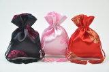 Sac promotionnel fait sur commande de cadeau de cordon de satin pour l'emballage/l'empaquetage