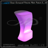 PE 색깔 변화를 가진 플라스틱 현대 LED 바 의자