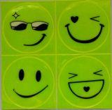 1 strato (4 PCS), piccolo fronte di sorriso dell'autoadesivo riflettente per il motociclo, bicicletta, gioca c'è ne dove per la sicurezza visibile