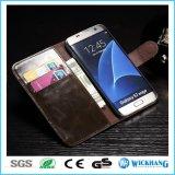Caso de cuero de lujo del tirón de la carpeta para el teléfono de la galaxia de Samsung