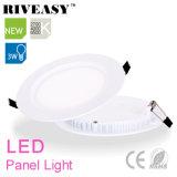 3W llevada de acrílico redonda Panel de luz LED con el conductor aislado Ce Caliente-Venta luz del panel