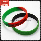Bracelet fait sur commande en caoutchouc de silicones de qualité de premier ordre avec le logo