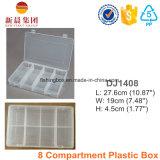8 de Duidelijke Plastic Doos van het compartiment