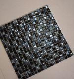 De vierkante Tegel van de Muur van het Mozaïek van het Glas van het Kristal van de Mengeling van de Hars van de Vorm Zwarte Decoratieve