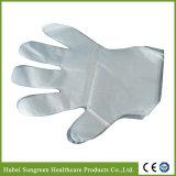 Wegwerf-PET Plastikhandschuhe mit Nahrungsmittelgrad