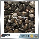 Natual отполировало черный камень реки для стены и настила