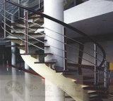 Haohan modificó la barandilla de acero galvanizada decorativa residencial elegante 4 de la escalera para requisitos particulares