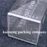 Caixa de presente desobstruída Foldable do PVC do plástico da boa qualidade com impressão do logotipo (caixa de presente do PVC)