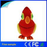 Pájaro animal de encargo Pendrive 4GB de la historieta del silicón del regalo de la promoción