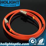 Sc шнура заплаты волокна оптически к померанцу Sc мультимодному двухшпиндельному