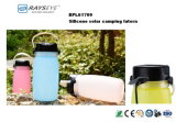 Botella de sílice linterna solar
