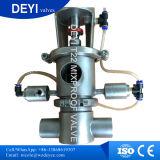 Válvula mezcladora sanitaria de acero inoxidable de 25,4 mm con válvula solenoide SMC