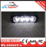 Luz fina 12-24V del estroboscópico del montaje 4W del ámbar 4 LED