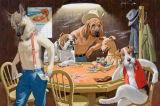 Peinture animale drôle d'art de décoration à la maison avec le bâti