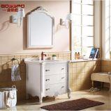 Armoires de toilette modernes en bois massif en bois massif (GSP9-004)