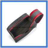 Les laines de modèle de mode ont ressenti le sac à main portatif de mémoire, poche personnalisée de cadeau de promotion/sac cosmétique avec la double tirette (le contenu de laines est 70%)