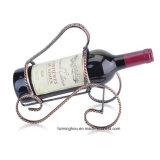 Bronce creativo del estante del sostenedor del vino del espiral de la botella del diseño solo
