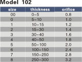 Öffnung0.8-3.2 Tanaka-Ausschnitt-Düse des Modell-102