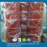 Broodjes van de Strook van het Gordijn van de Deur van pvc van het anti-Insect van de regenboog de Oranje Zachte Vlotte Plastic