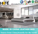 Самомоднейшая кровать белой кожи для домашней мебели спальни (HC378)