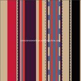 a listra Pigment&Disperse do café 100%Polyester imprimiu a tela para o jogo do fundamento