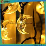 Indicatori luminosi solari per esterno, Wedding, festa di Natale (colore giallo) della stringa della luna