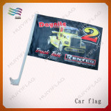 bandierine di seta dell'automobile di 30*45cm 50cm Palo Polyeater per la pubblicità del manifesto