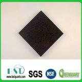 Черный камень кварца плитки кухни пола Sparkle