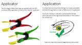 Tag de orelha animal de RFID que segue a identificação dos rebanhos animais