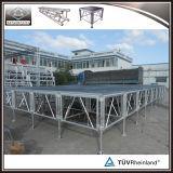 Estágio portátil de alumínio com altura ajustável
