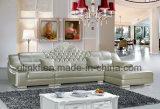 Sofà lussuoso reale classico del cuoio di grano della parte superiore del salone (HX-F629)