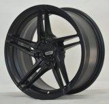 Het dunne wiel van de sopke gietende legering met zwart machinegezicht