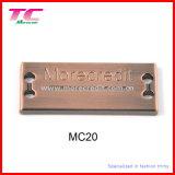 Plaque faite sur commande en métal de logo de modèle neuf pour le sac à main