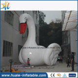 Гигантская раздувная модель лебедя, раздувной шарж для сбывания